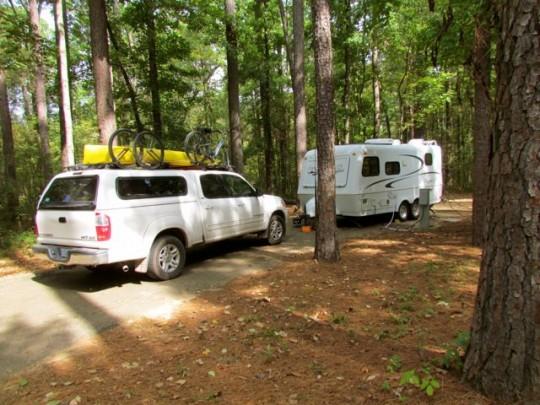 Campsite Caddo Lake State Park