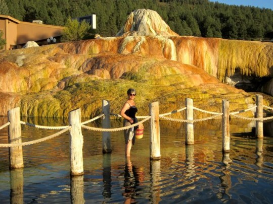 Wading To The Cliff Pools