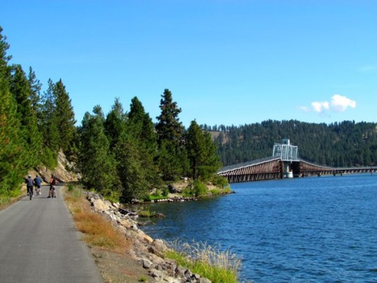 Biking The Coeur D'Alene Trail