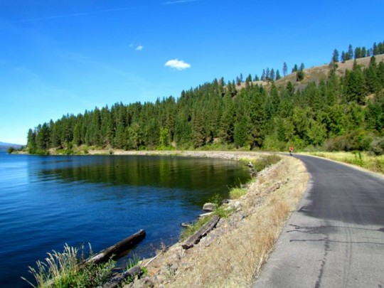 Biking Along Lake Coeur D'Alene
