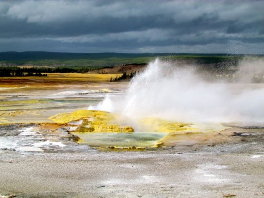 Geysers Spouting