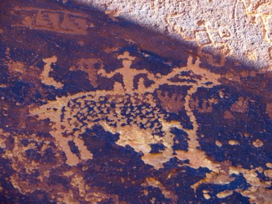 Horse And Rider Petroglyph