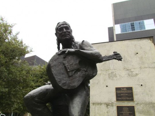 Willie Nelson Outside Moody Theatre
