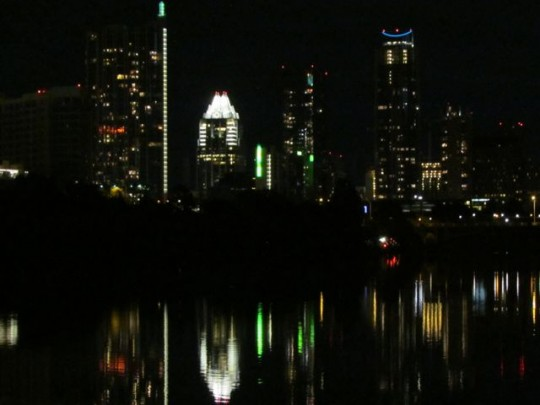 Austin By Night From Zilker Park
