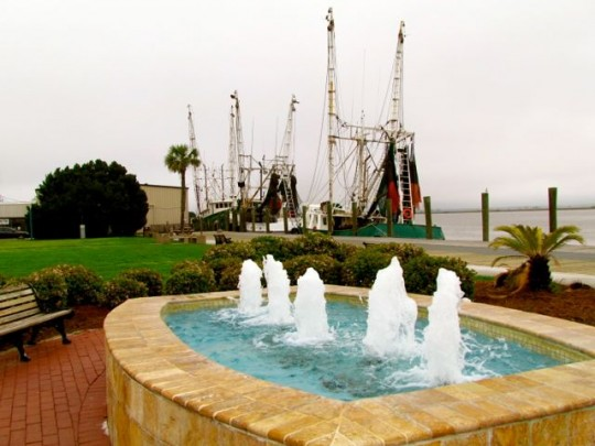 Waterfront Park And Shrimp Boats