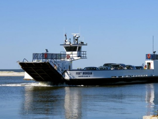 Ferry Between Fort Morgan And Dauphin Island