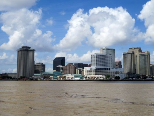 New Orleans Skyline From Algiers