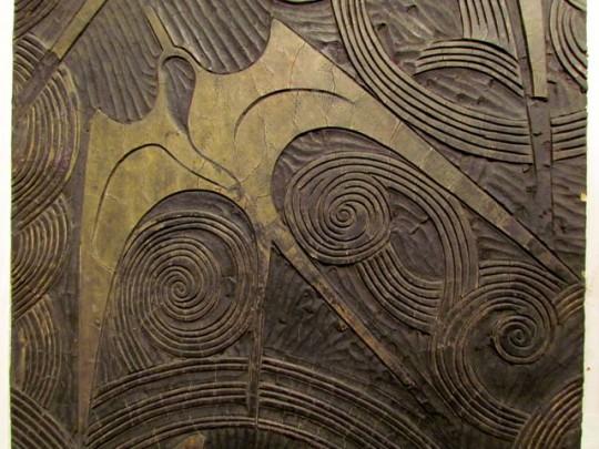 Detail Of Huge Linoleum Block For Print