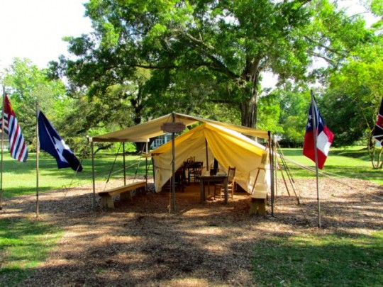 Confederate Officers Tent