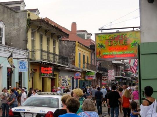 Bourbon Street Scene