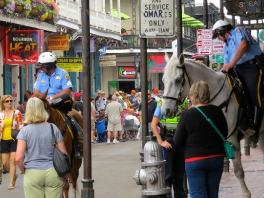 Maintaining Order On Bourbon Street
