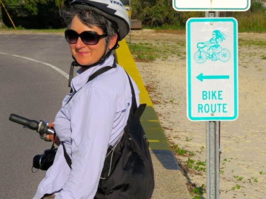 Signs For The Bike Route
