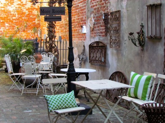 Courtyard In The French Quarter