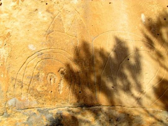 Detail Of Petroglyphs