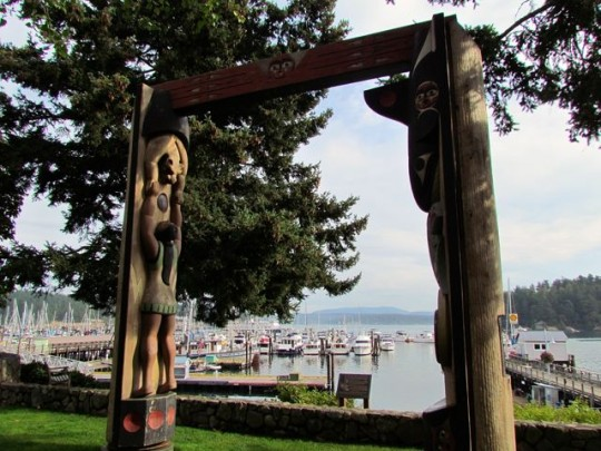 Totem Arch Overlooking The Harbor