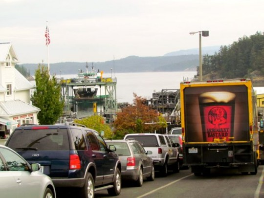 Lining Up For The Ferry