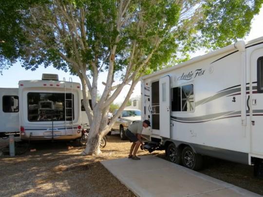 Campsite At The RV Park In Yuma