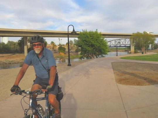 Biking Along The Riverfront In Yuma