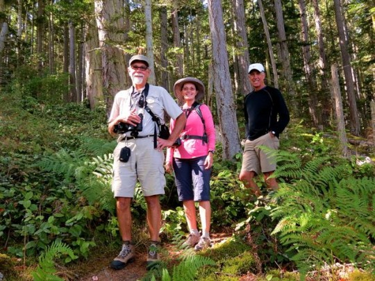 On Watmough Bay Trails With LuAnn And Terry