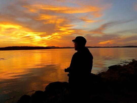 Enjoying A Shark Reef Sunset