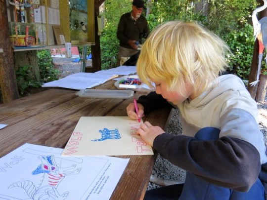 Drawing His Wolf Totem