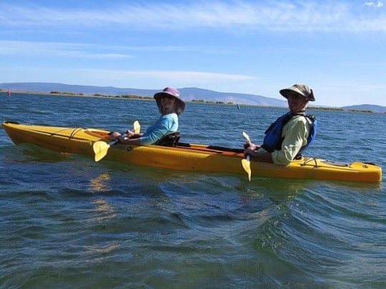 Kath And Ted In Their New Kayak