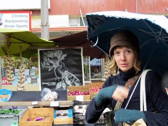 Rainy Day At Moscow Farmers' Market