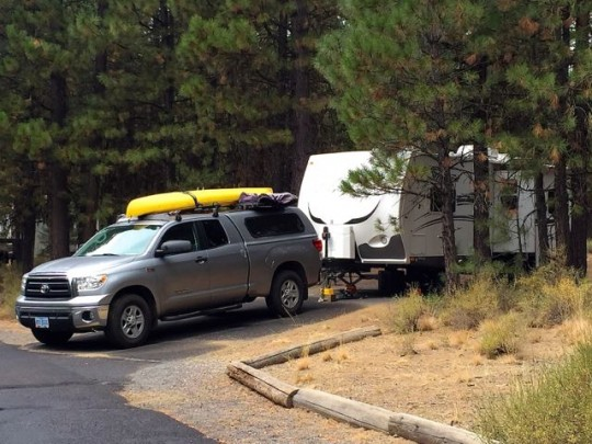 Campsite At LaPine State Park