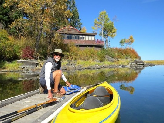 Launching Our Kayak