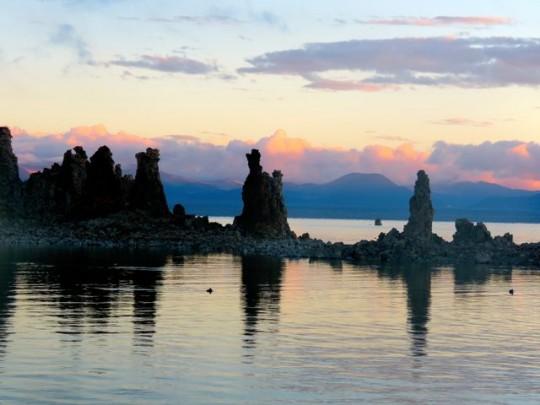 Tufa Silhouettes At Sunrise