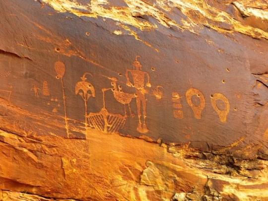 Wolfman Petroglyph Panel