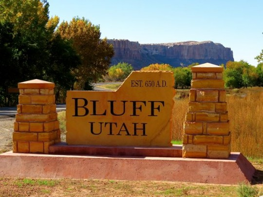 Bluff, Utah: Established 650 A.D.