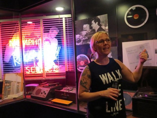 Our Enthusiastic Tour Guide At Sun Studio