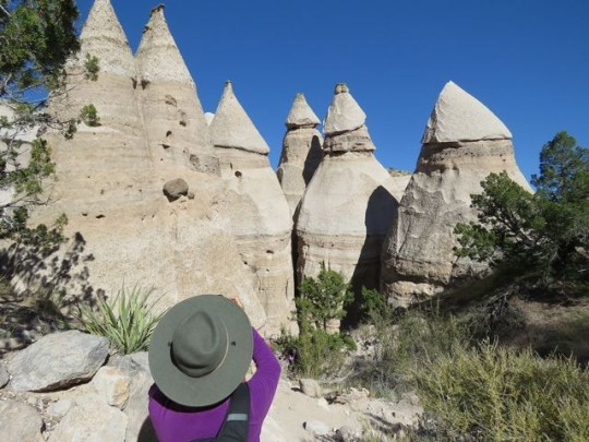 Tent Rocks Against The New Mexico Sky