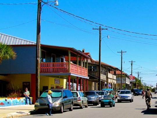 Biking Downtown Cedar Key