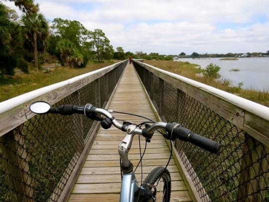 Biking The Boardwalk In Cedar Key