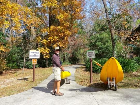 Transporting Our Kayak To Alexander Springs