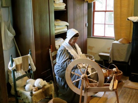 Docent Spinning Wool