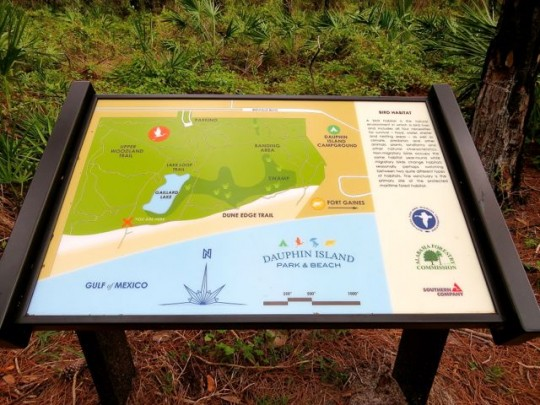 Campground, Beach And Bird Sanctuary Map