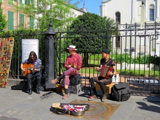 Busking In The French Quarter