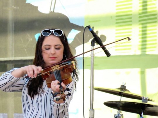 Fiddle Player In All-Girl Zydeco Group