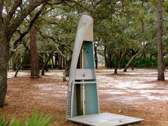 Outdoor Shower At Ochlockonee River State Park