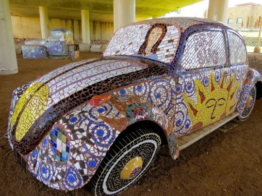 Mosaic Covered VW Bug