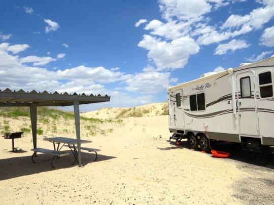 Campsite At Monahans Sandhills State Park