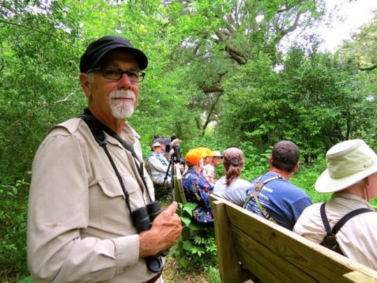 A Happy Birder  In Smith Oaks