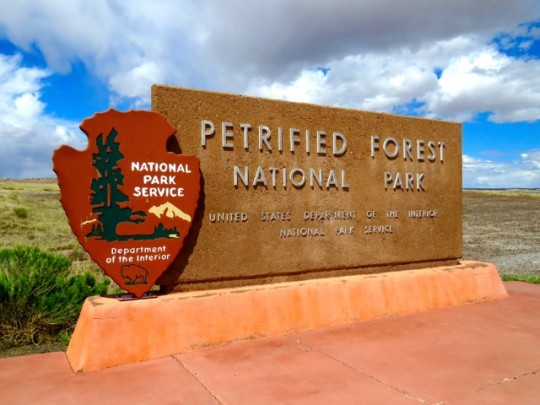 Entering Petrified Forest National Park