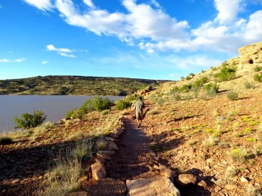 The Trail Overlooks Lyman Lake