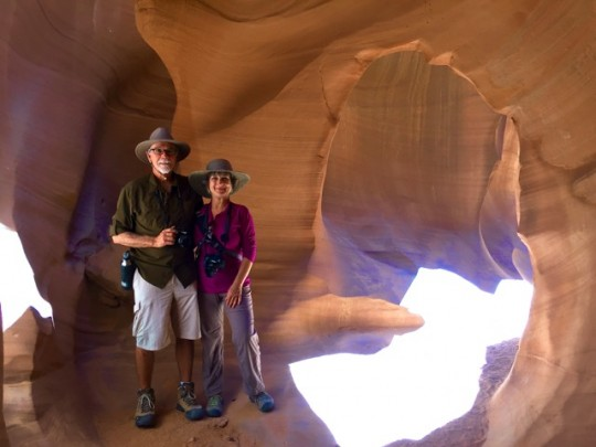 In Beautiful Antelope Canyon