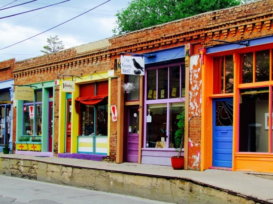 Colorful Yankie Street In Silver City, NM