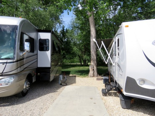 Nice Site At Boise Riverside RV Park